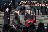 Remembrance Sunday 2012 Cenotaph March Past: Peter Orchard, for London Transport, is the leading the first group.. Whitehall, Cenotaph, London SW1,  United Kingdom, on 11 November 2012 at 11:28, image #11