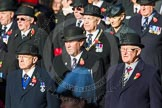 Remembrance Sunday Cenotaph March Past 2013: Waiting for the March Past to begin.. Press stand opposite the Foreign Office building, Whitehall, London SW1, London, Greater London, United Kingdom, on 10 November 2013 at 11:25, image #4