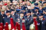 Remembrance Sunday at the Cenotaph in London 2014: In front of March Past column M - Transport for London. Press stand opposite the Foreign Office building, Whitehall, London SW1, London, Greater London, United Kingdom, on 09 November 2014 at 11:33, image #6