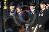 Remembrance Sunday at the Cenotaph in London 2014: Members of the Royal British Legion (?) leading the March Past. Press stand opposite the Foreign Office building, Whitehall, London SW1, London, Greater London, United Kingdom, on 09 November 2014 at 11:37, image #8