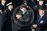 Remembrance Sunday at the Cenotaph in London 2014: Members of the Royal British Legion (?) leading the March Past. Press stand opposite the Foreign Office building, Whitehall, London SW1, London, Greater London, United Kingdom, on 09 November 2014 at 11:37, image #11
