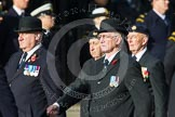 Remembrance Sunday at the Cenotaph in London 2014: Members of the Royal British Legion (?) leading the March Past. Press stand opposite the Foreign Office building, Whitehall, London SW1, London, Greater London, United Kingdom, on 09 November 2014 at 11:37, image #13