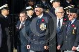 Remembrance Sunday at the Cenotaph in London 2014: Group F1 - Normandy Veterans Association, parading for the last time, the group disbands later this month. Press stand opposite the Foreign Office building, Whitehall, London SW1, London, Greater London, United Kingdom, on 09 November 2014 at 11:37, image #15