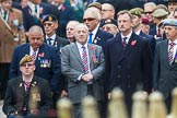 Remembrance Sunday at the Cenotaph 2015: Veterans waiting for the March Past to start, here group F1, Blind Veterans UK. Cenotaph, Whitehall, London SW1, London, Greater London, United Kingdom, on 08 November 2015 at 11:23, image #1