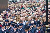 Remembrance Sunday at the Cenotaph 2015: Over 10.000 Veterans waiting for the begin of the March Past, in front the TFL group. Cenotaph, Whitehall, London SW1, London, Greater London, United Kingdom, on 08 November 2015 at 11:26, image #7