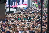 Remembrance Sunday at the Cenotaph 2015: Over 10.000 Veterans waiting for the begin of the March Past, in front the TFL group. Cenotaph, Whitehall, London SW1, London, Greater London, United Kingdom, on 08 November 2015 at 11:26, image #8