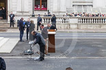 Remembrance Sunday at the Cenotaph 2015: Preparations for the service at the Cenotaph. Image #4, 08 November 2015 08:53 Whitehall, London, UK