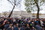 Remembrance Sunday at the Cenotaph 2015: 9am, already a crowd at the Cenotaph. Image #7, 08 November 2015 09:00 Whitehall, London, UK