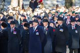 during Remembrance Sunday Cenotaph Ceremony 2018 at Horse Guards Parade, Westminster, London, 11 November 2018, 10:10.